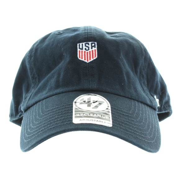 Mens USA Crest Clean-Up Navy Blue Adjustable Hat NWT